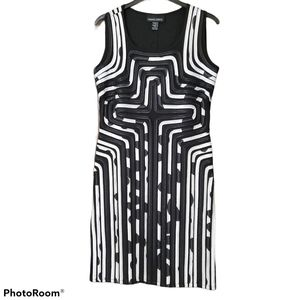 Frank Lyman black white sheath dress size 10